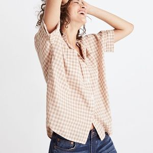 Madewell gingham button down shirt